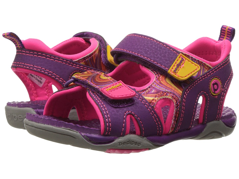 pediped - Navigator Flex (Toddler/Little Kid) (Purple Swirl) Girls Shoes