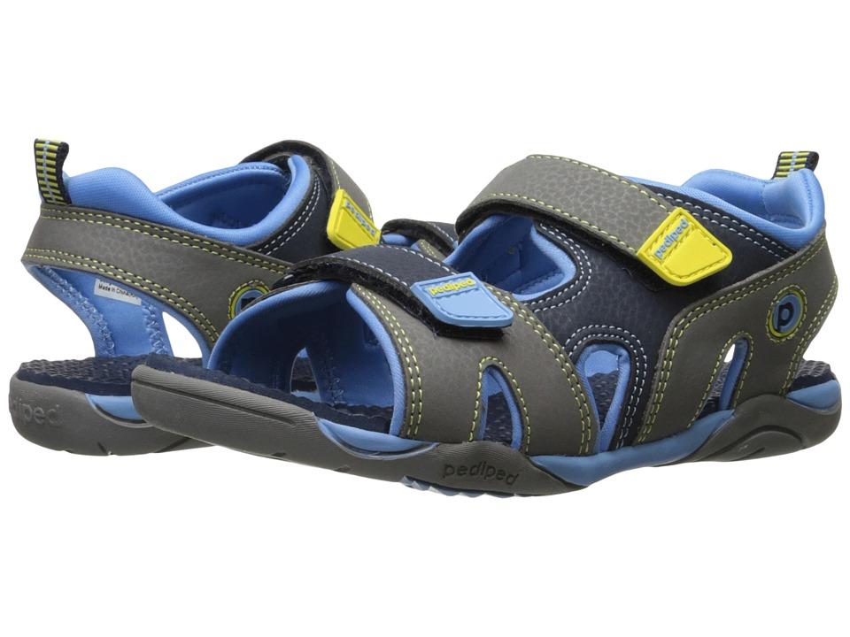 pediped - Navigator Flex (Toddler/Little Kid) (Black/King Blue) Boys Shoes
