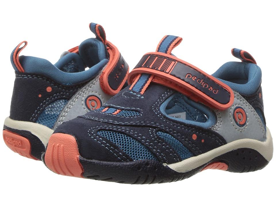 pediped - Stingray Flex (Toddler/Little Kid) (Blue/Orange) Boys Shoes
