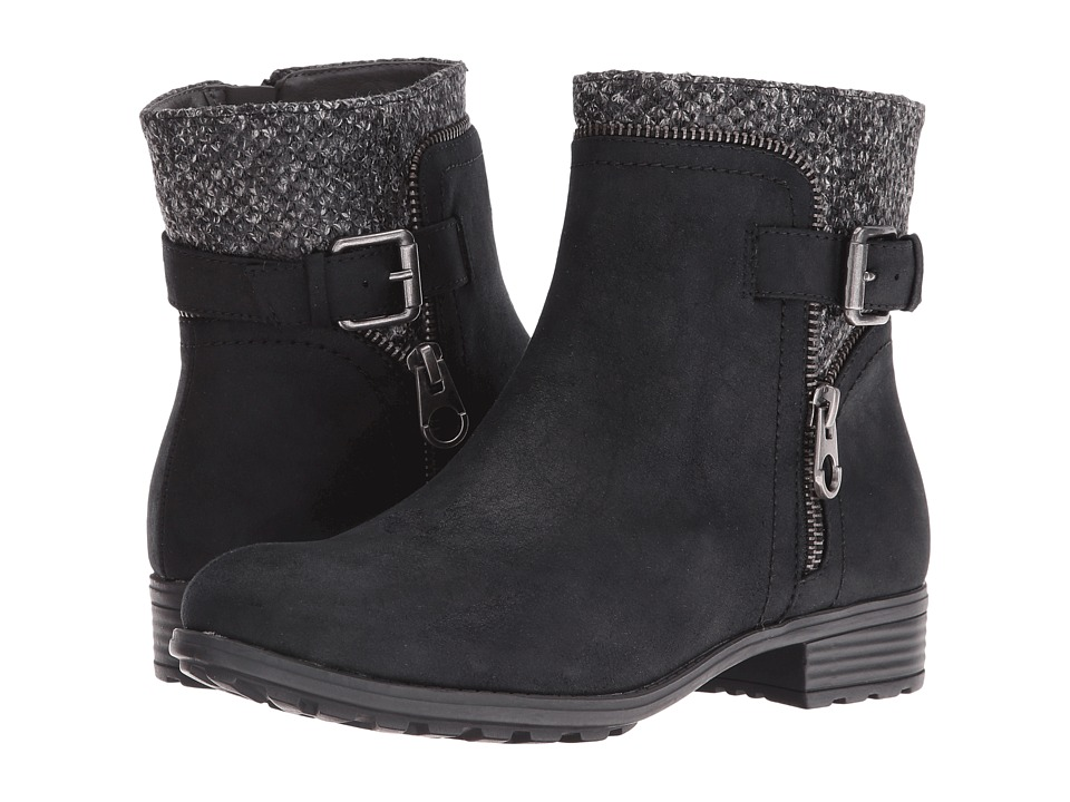 White Mountain - Randolph (Black Distressed Fabric) Women's Shoes
