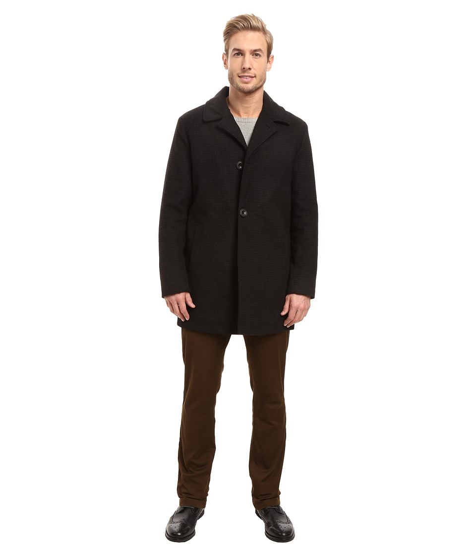 Kenneth Cole New York - The Tweed 2 Coat (Black) Men's Coat