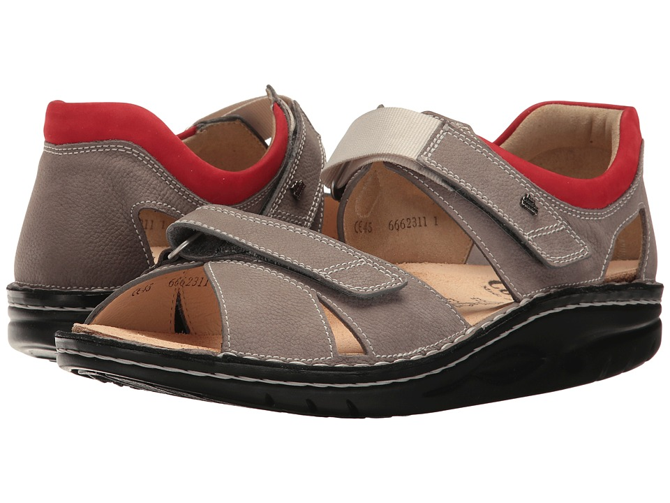 Finn Comfort - Samara (Grey/Sandia Bear Reno/Nubuck) Sandals