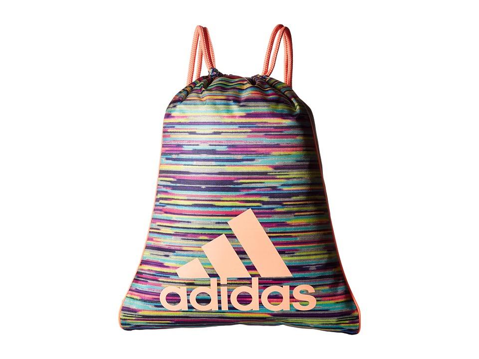 adidas - Burst Sackpack (Skyler Shock Pink/Grey/Sun Glow) Bags
