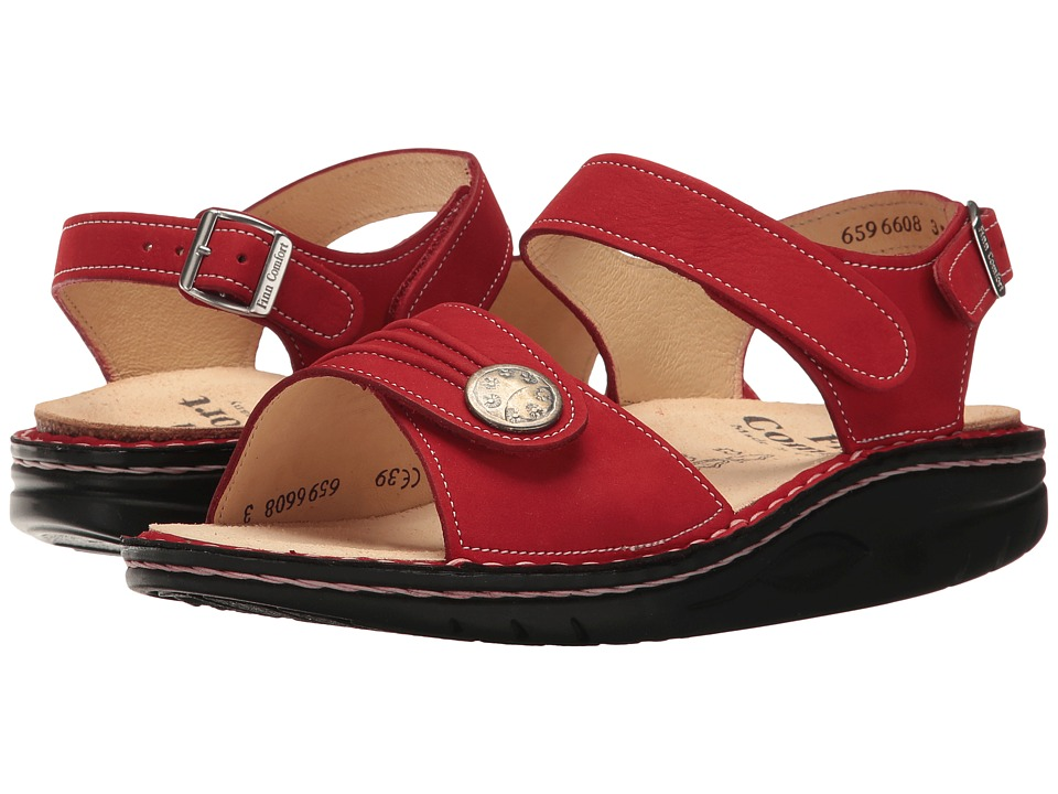 Finn Comfort - Sausalito (Red Patagonia) Women's Sandals