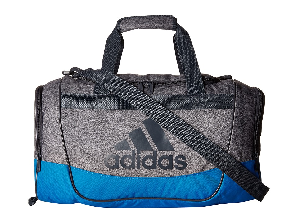 adidas - Defender II Small Duffel (Heather Print Grey/Bright Blue/Deepest Space/Clear Grey) Duffel Bags