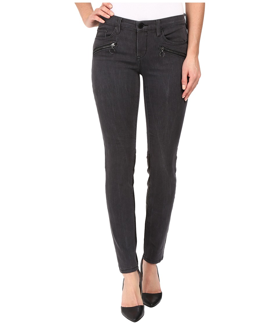 Blank NYC - Grey and Vegan Leather Detailed Bottom in Drag It Out (Drag It Out) Women's Jeans