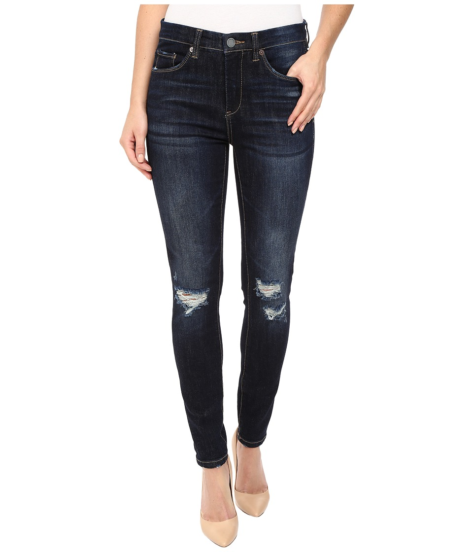 Blank NYC Mid-Rise Distressed Blue Skinny in Fully Loaded (Fully Loaded) Women