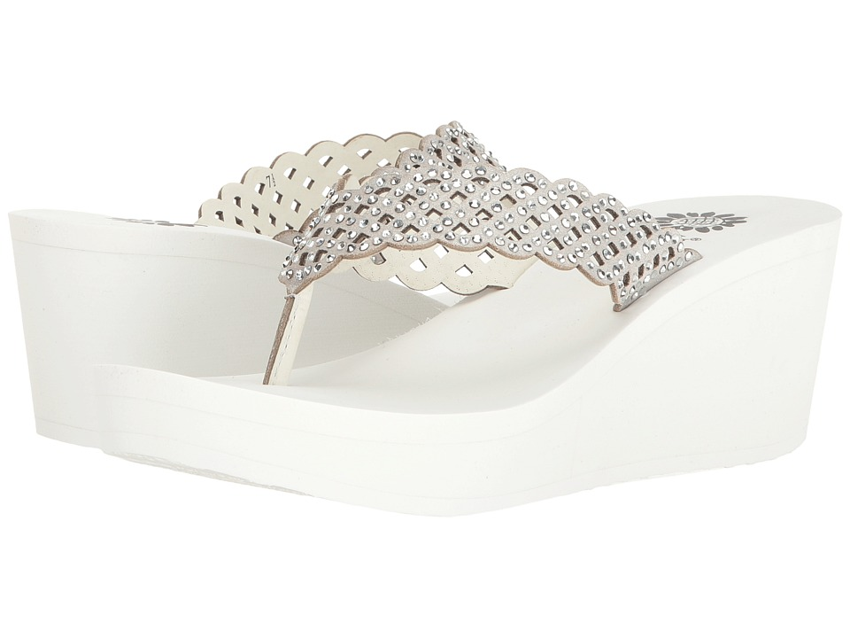 Yellow Box - Deloise (White) Women's Sandals