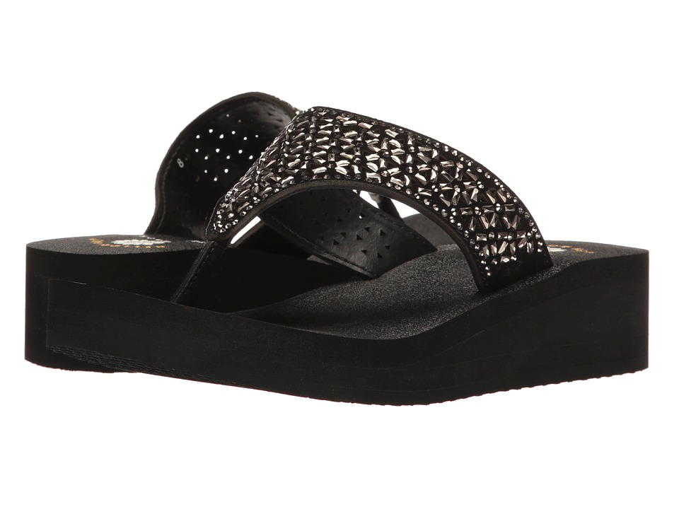Yellow Box - Glam (Black) Women's Sandals