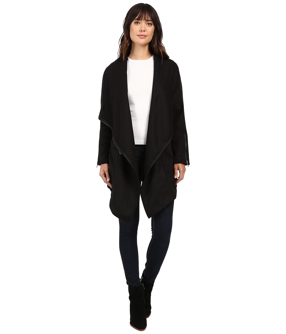 Blank NYC - Long Black Jacket in Blackout (Blackout) Women's Coat