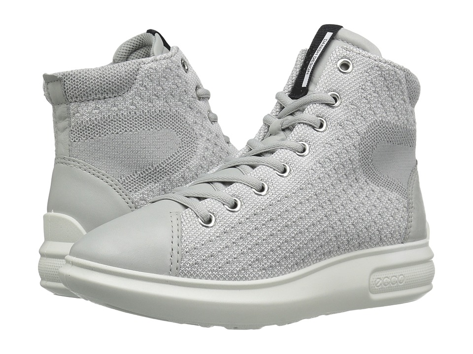 ECCO - Soft 3 High Top (Concrete/Concrete) Women's Lace-up Boots
