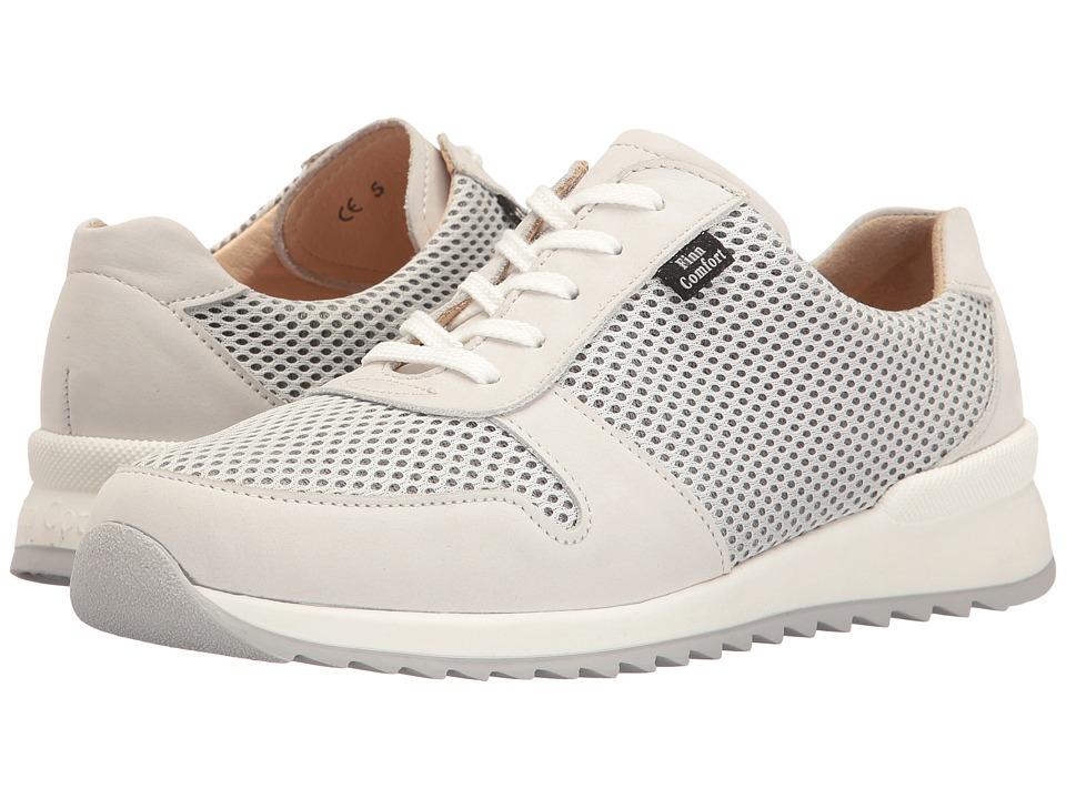 Finn Comfort - Sidonia (Bianco/White Nubuck/Skipper) Women's Lace up casual Shoes