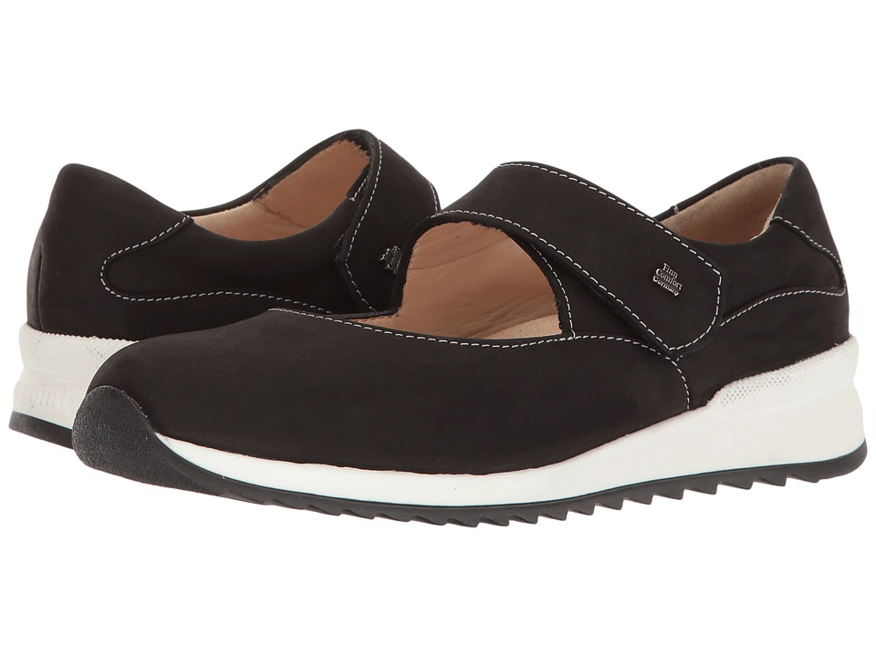 Finn Comfort - Soiano (Black Buggy) Women's Shoes