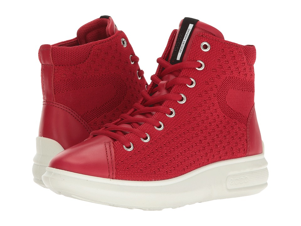 ECCO Soft 3 High Top (Chili Red/Chili Red) Women