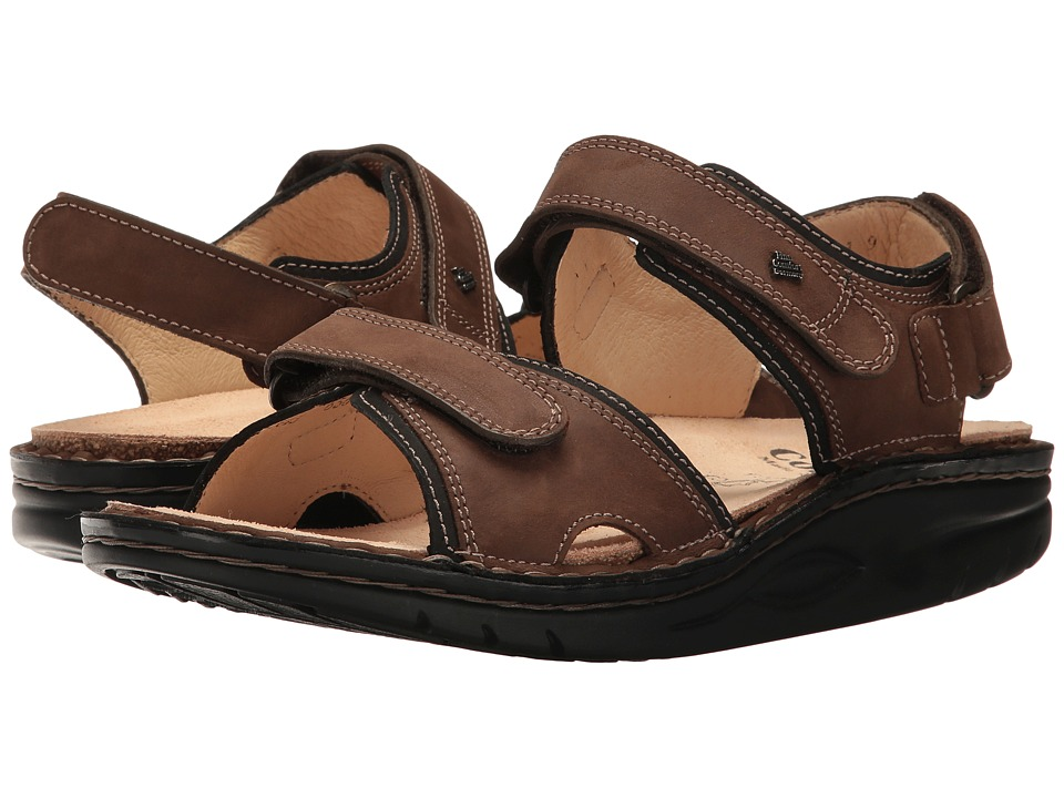Finn Comfort - Yuma (Wood/Black Cherokee) Sandals