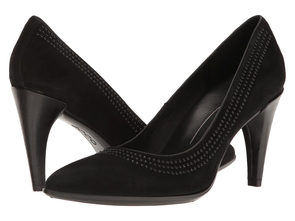 ECCO - 75 Embellished Pump (Black) High Heels