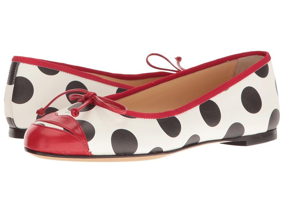 Charlotte Olympia - Kiss Me Darcy (White Polka Dot Print/Real Red/Printed Calfskin/Kidskin) Women's Shoes