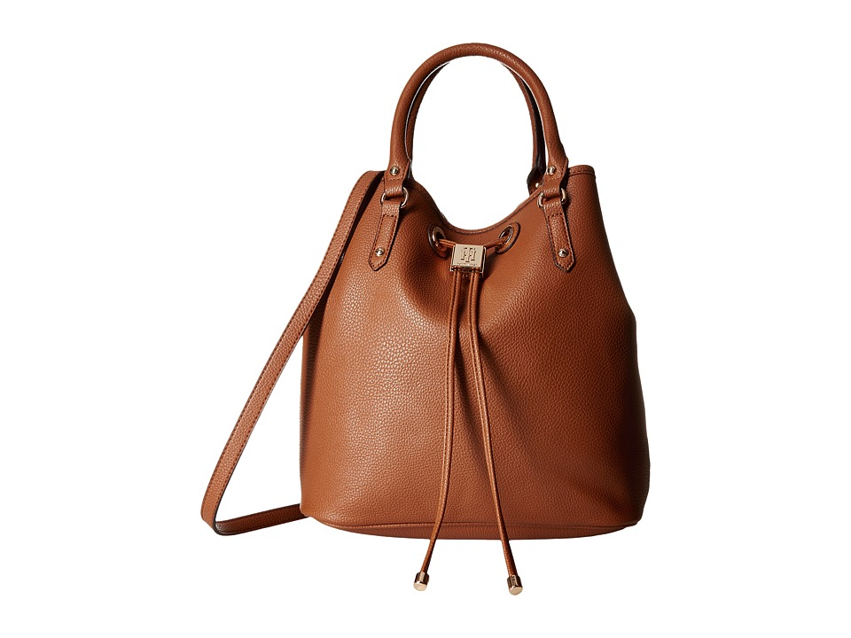 Tommy Hilfiger - Hannah Drawstring Tote Double Sided (Cognac/Navy) Tote Handbags