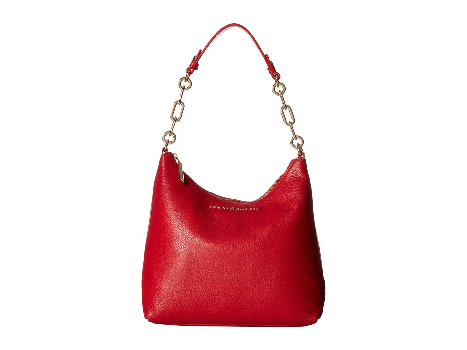 Tommy Hilfiger - Isabella Hobo Pebble Leather (Racing Red) Hobo Handbags