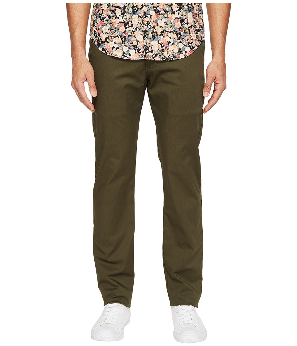 Naked & Famous - Slim Chino (Khaki Green Stretch Twill) Men's Jeans