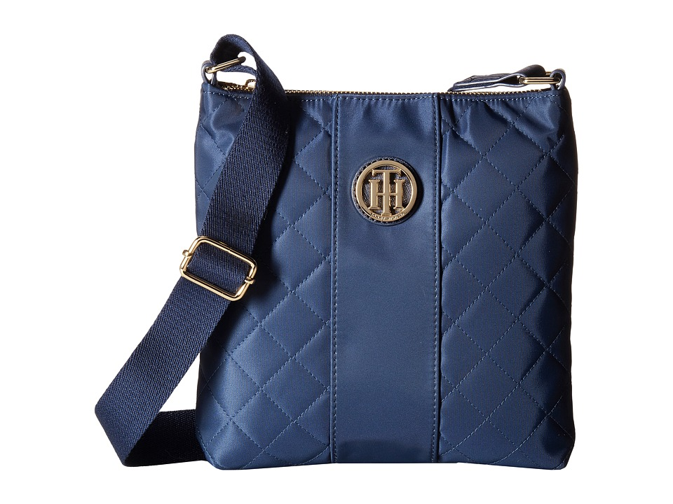 Tommy Hilfiger - Isla North/South Crossbody Quilted Nylon (Tommy Navy) Cross Body Handbags