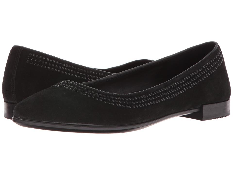 ECCO - Shape Pointy Ballerina (Black) Women's Slip on Shoes