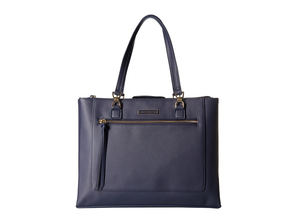 Tommy Hilfiger - Naomi Tote Saffiano (Tommy Navy) Tote Handbags