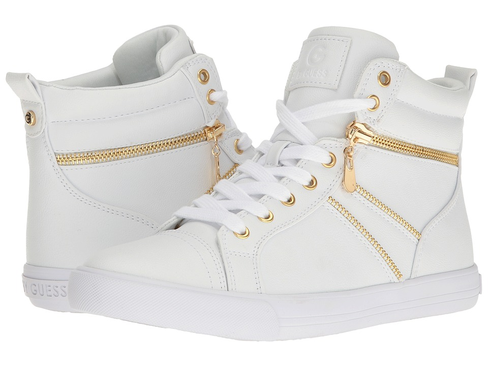 G by GUESS - Oryan (White) Women's Lace up casual Shoes