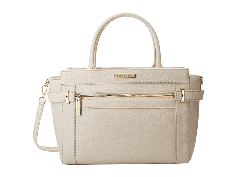 Tommy Hilfiger - Savanna Convertible Shopper Pebble Leather (Winter White) Handbags