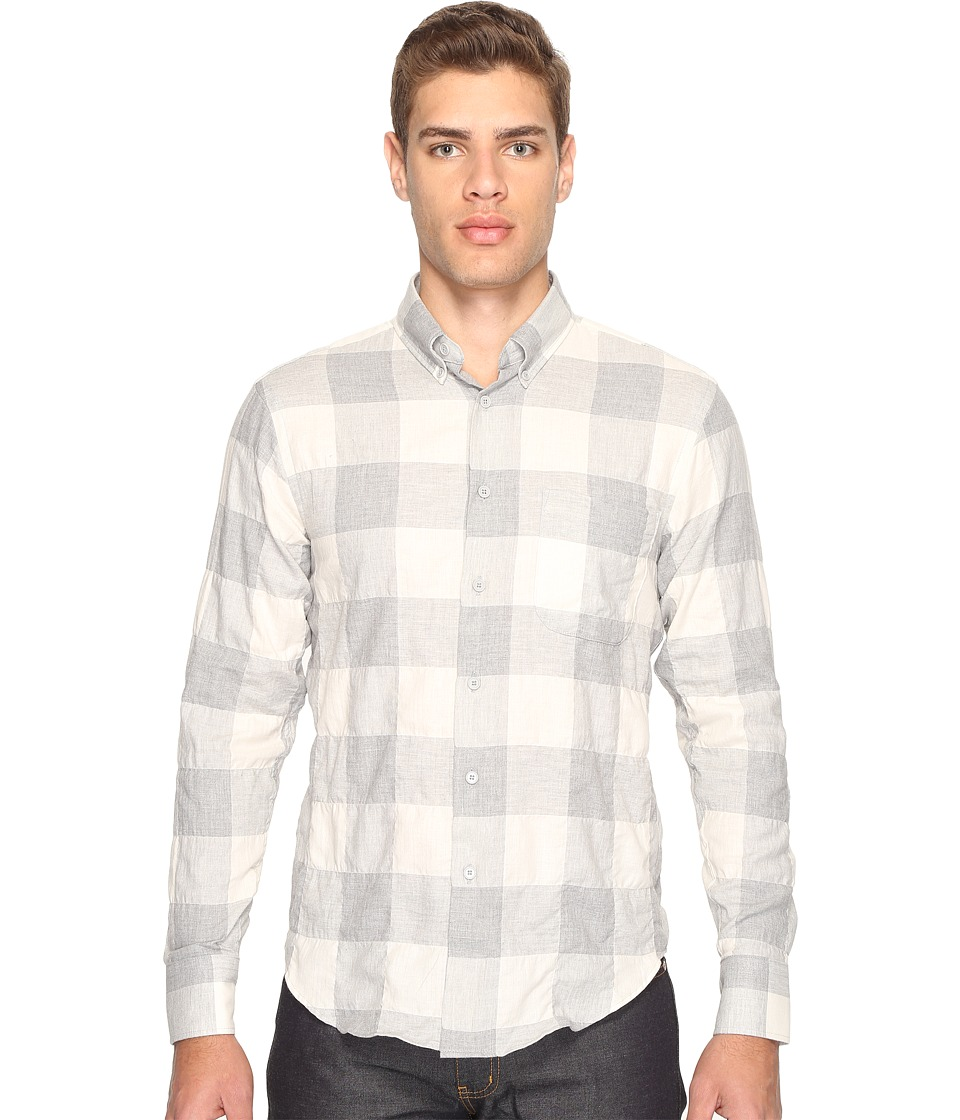 Naked & Famous - Regular Shirt (Herringbone Buffalo Check/Grey/White) Men's Clothing