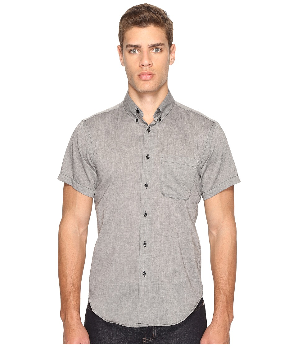 Naked & Famous - Short Sleeve Shirt (Organic Yarn-Dyed Gauze/Black) Men's Clothing