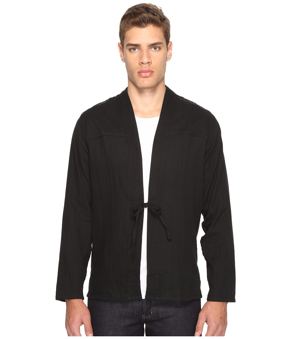 Naked & Famous - Kimono Shirt (Slub Double Gauze/Black) Men's Clothing