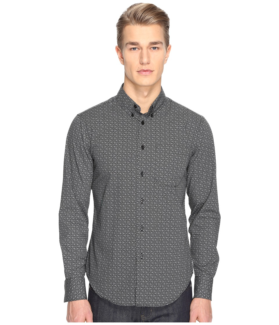 Naked & Famous - Regular Shirt (Geometric Print) Men's Clothing
