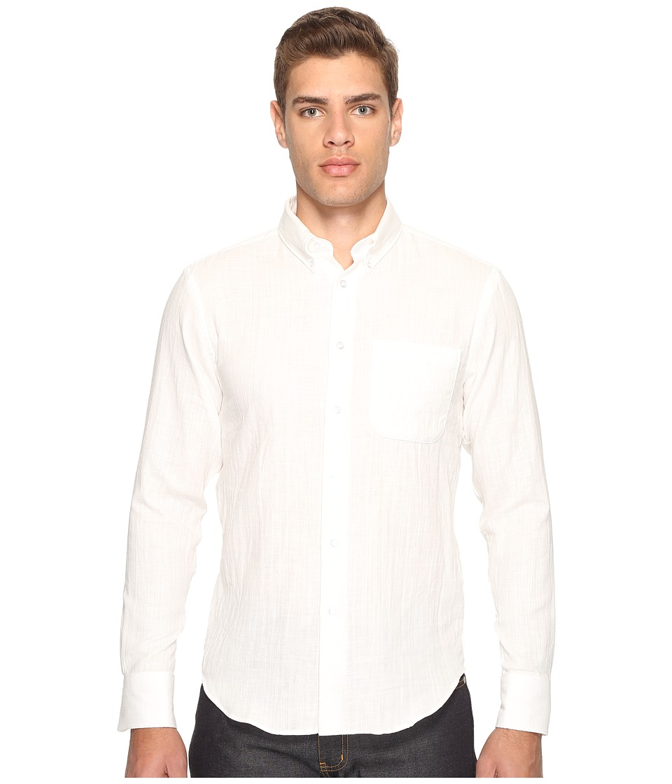 Naked & Famous - Regular Shirt (Slub Double Gauze/White) Men's Clothing