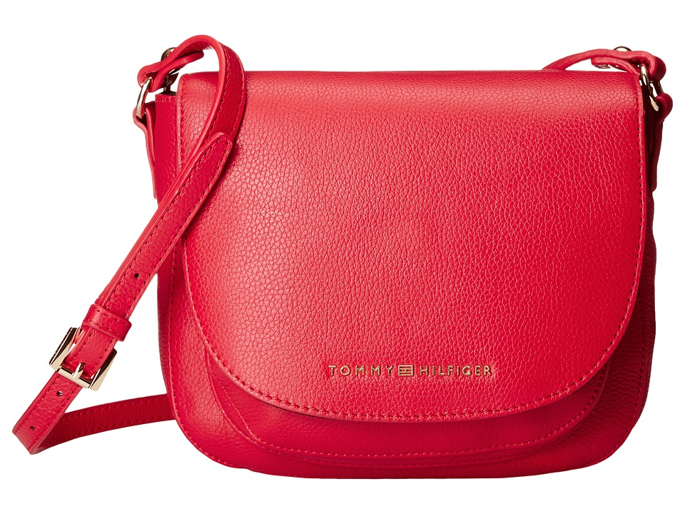 Tommy Hilfiger - Saddle Bag Saddle Bag (Racing Red) Hobo Handbags