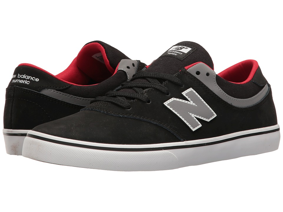 New Balance Numeric - NM254 (Black/Grey/Red) Men's Skate Shoes
