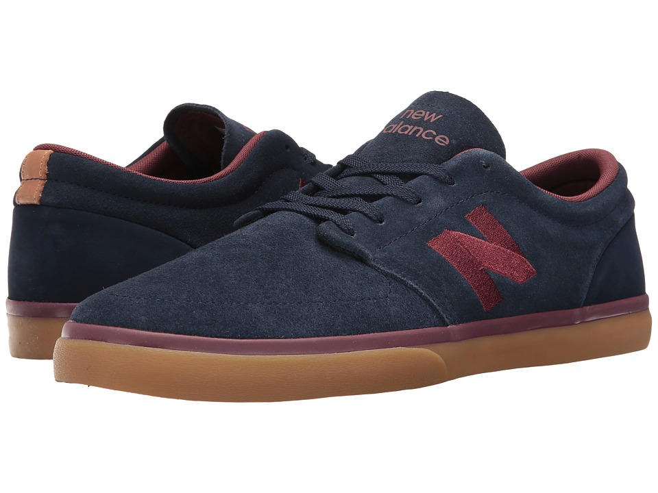New Balance Numeric - NM345 (Navy/Burgundy) Men's Skate Shoes