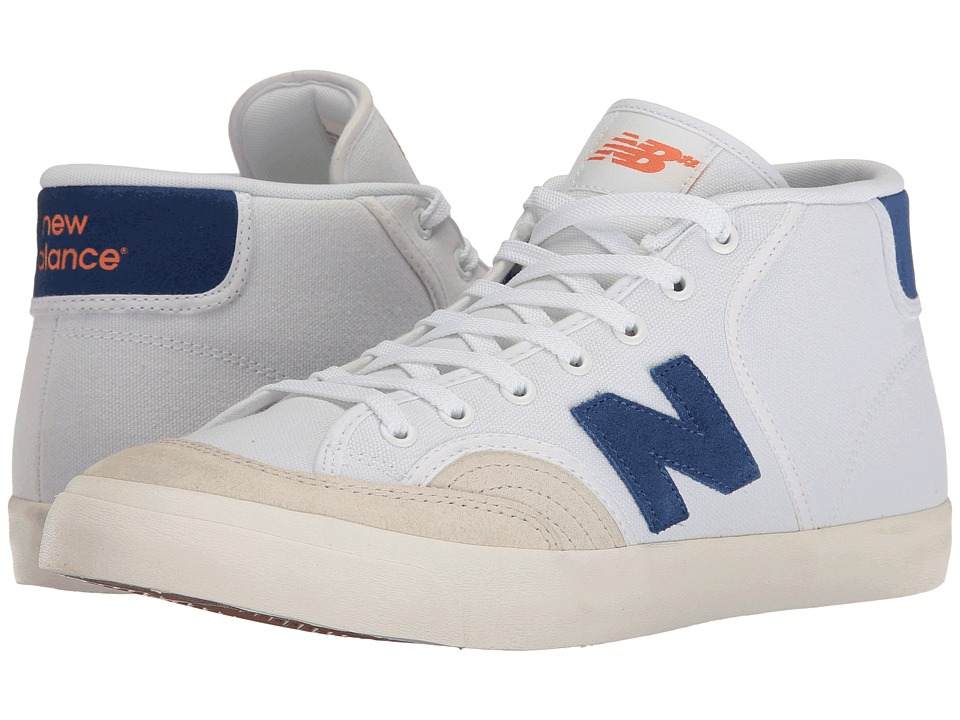 New Balance Numeric - NM213 (White/Royal/Orange) Men's Skate Shoes