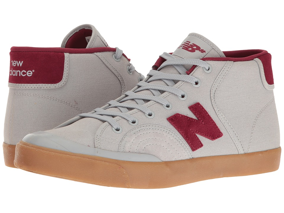New Balance Numeric - NM213 (Light Grey/Burgundy) Men's Skate Shoes