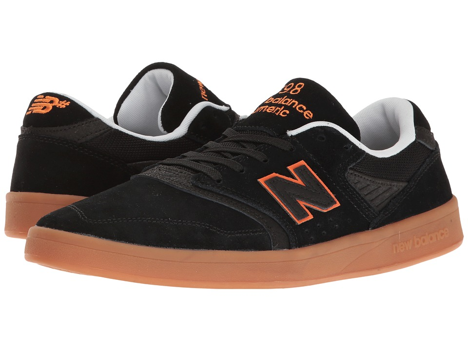 New Balance Numeric - NM598 (Black/Orange/Gum) Men's Skate Shoes