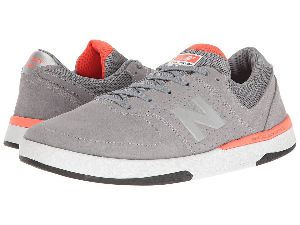 New Balance Numeric - NM533 (Grey/Fire) Men's Skate Shoes