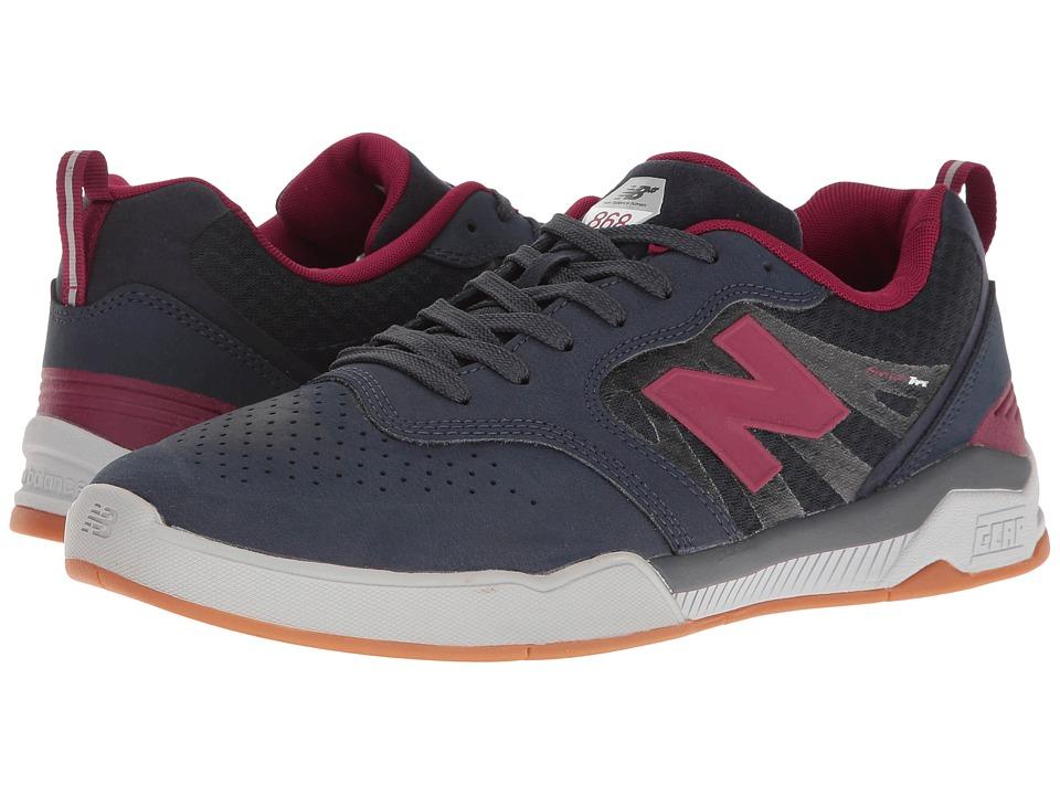 New Balance Numeric - NM868 (Navy/Burgundy) Men's Skate Shoes