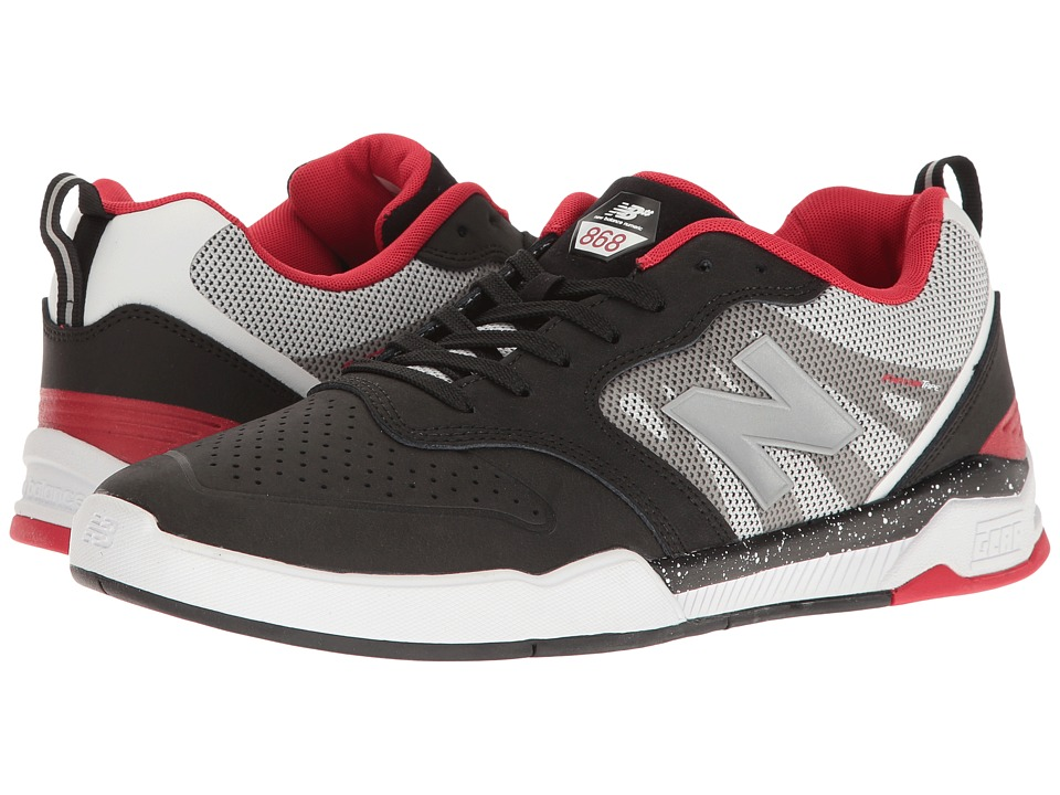 New Balance Numeric - NM868 (Black/White/Red) Men's Skate Shoes