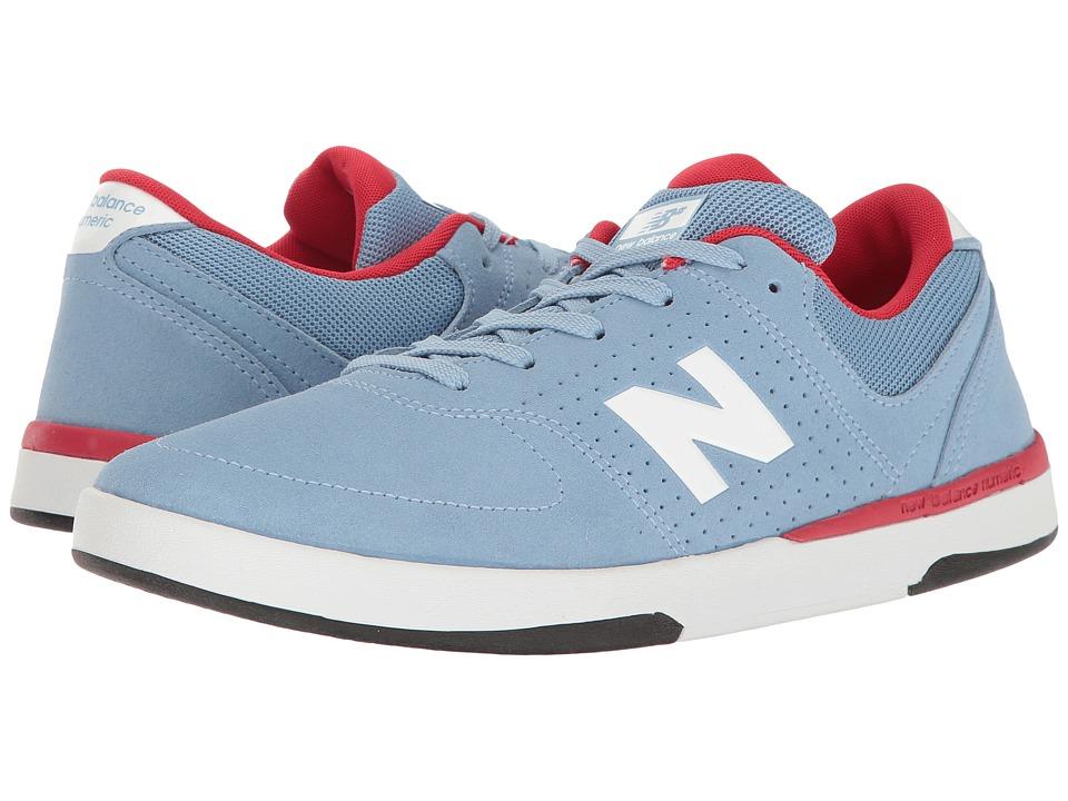 New Balance Numeric - NM533 (Sky/Burgundy) Men's Skate Shoes