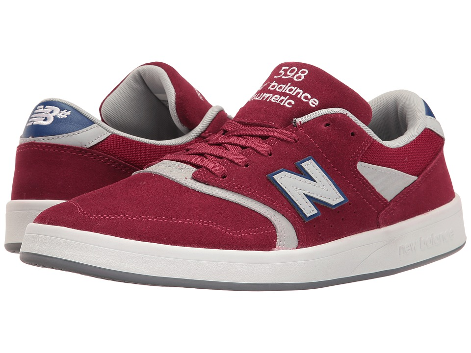 New Balance Numeric - NM598 (Burgundy/Grey) Men's Skate Shoes