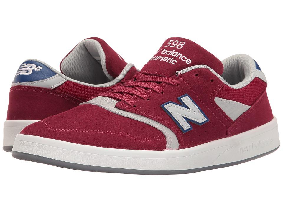 New Balance Numeric - NM598 (Burgundy/Grey) Men's Skate Shoes