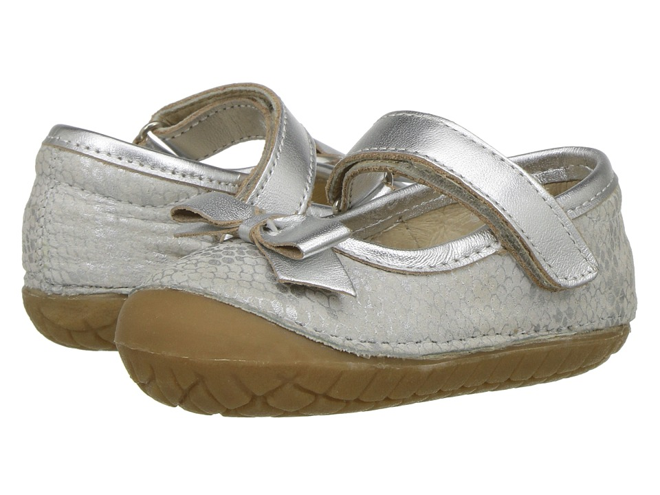 Old Soles - Pave Gabs (Infant/Toddler) (Silver Python/Silver) Girls Shoes