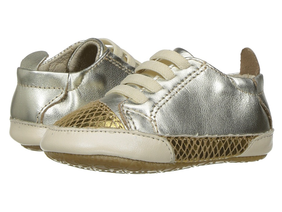 Old Soles - Joey (Infant/Toddler) (Gold/Gold Snake/Pearl) Girls Shoes