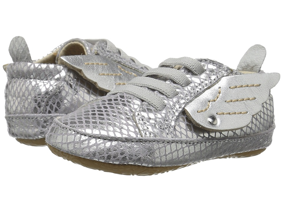 Old Soles - Bambini Wings (Infant/Toddler) (Lavender Snake/Silver) Girls Shoes