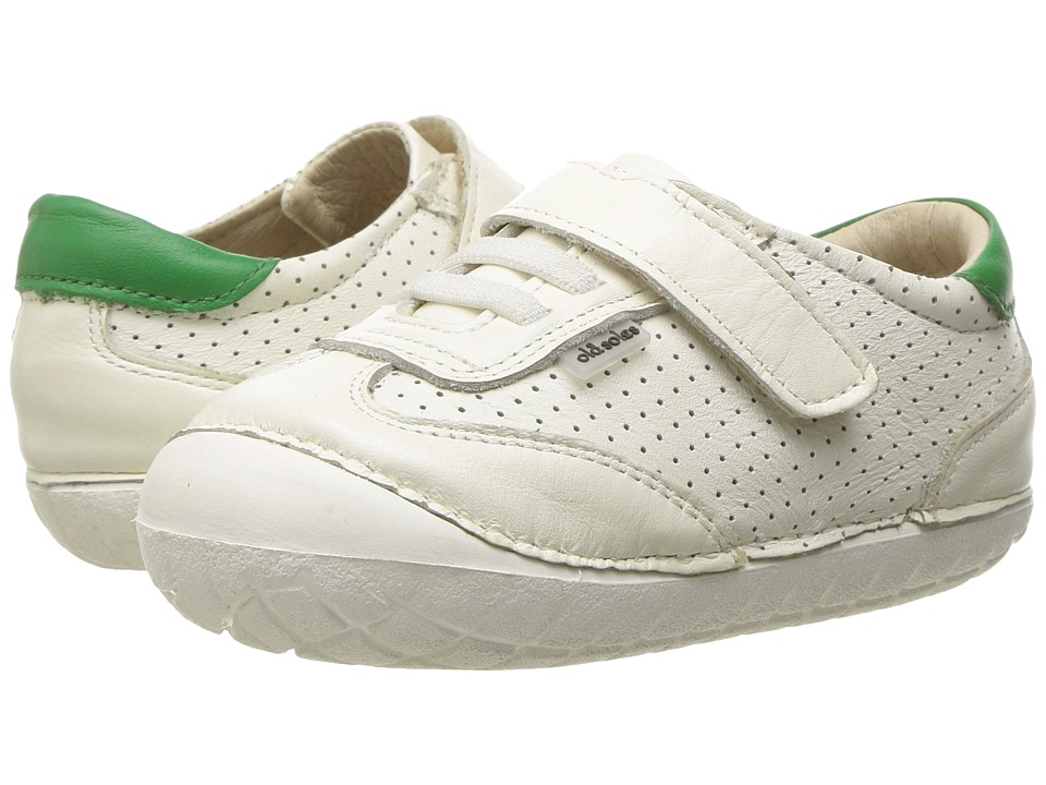 Old Soles - Spirit Pave (Infant/Toddler) (White/Green) Boys Shoes